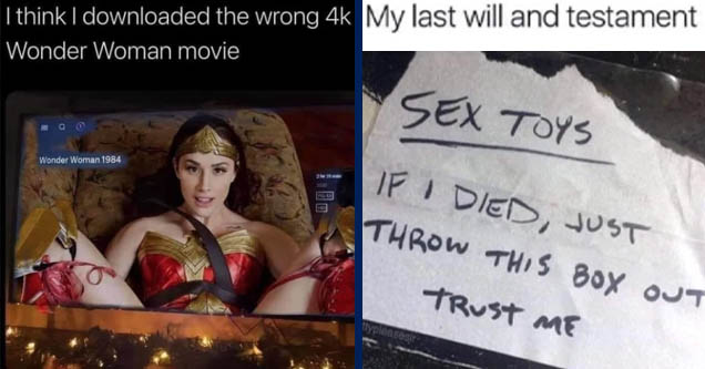 Wonder Woman 1984 - I think I downloaded the wrong 4k Wonder Woman movie a Wonder Woman 1984 231 | handwriting - My last will and testament Sex Toys If I Died, Just Throw This Box Out Trust Me prettypleasesin