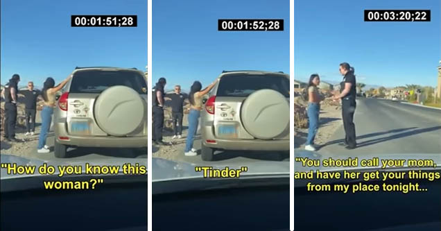 "Cop ""Catches His Own Wife Cheating"" During Traffic Stop"
