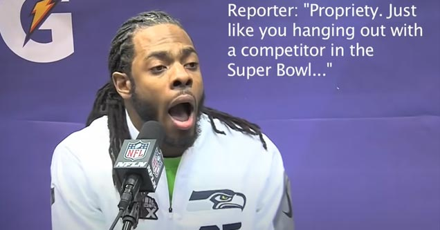 richard sherman in an interview