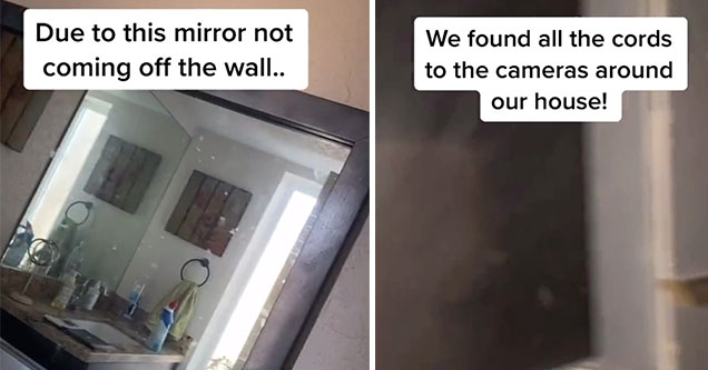 family finds a secret room and a two way mirror in their new home