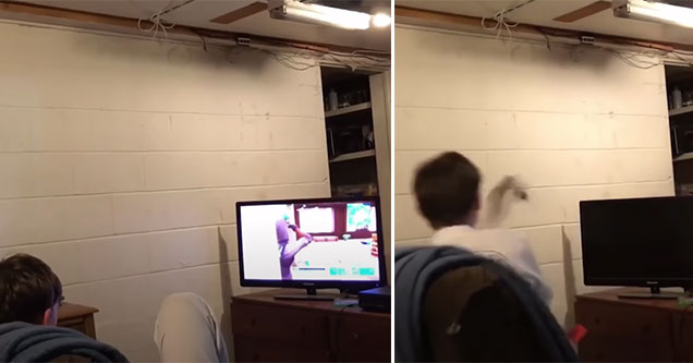 hidden remote prank forces younger brother to rage quit