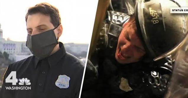 Офицер округа Колумбия, разгромленный бунтовщиками Капитолия, не жалует слов о своих чувствах к ним