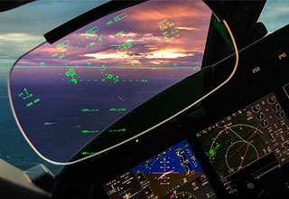 picture from the cockpit of an airplane - pilot pic from on the job