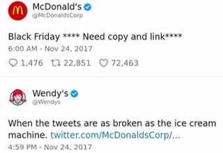 "She's a brutal lady. <br></br>Wendy's has always been famous for their square, ""fresh, never-frozen"" beef patties, but ever since the chain got itself a Twitter account, it's become equally famous for cooking internet trolls to an <strong><a href=""https://www.ebaumsworld.com/pictures/32-people-who-were-burned-to-a-crisp/86576523/"" target=""_blank"">absolute crisp</a></strong>."