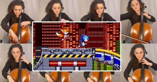 Музыкальная тема зоны химического завода из Sonic the Hedgehog на 8 виолончелях