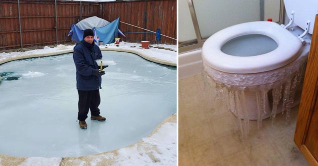 24 фотографии замороженных вещей в Техасе, которые нельзя замораживать