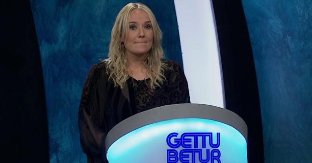 Участник игрового шоу нервничает во время исландского игрового шоу