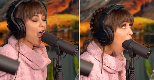 Райли Рид демонстрирует свои уникальные способности на микрофоне