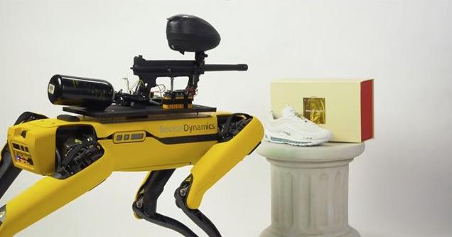 Как управлять собакой-роботом за 75000 долларов с помощью пейнтбольного пистолета