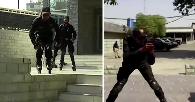 Полиция Пакистана, занимающаяся катанием на роликах, выпустила еще одно непреднамеренно веселое видео
