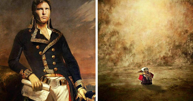 star wars, classical art | painting of marquis de lafayette - Gan | nature - S