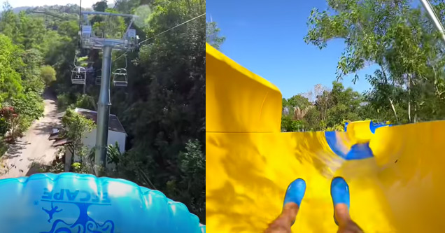 the Guinness world record holding longest water slide in Malaysia