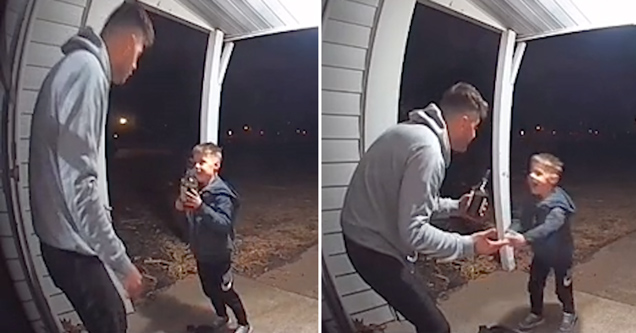 dad confronting his son about stealing bottle of bourbon on tiktok
