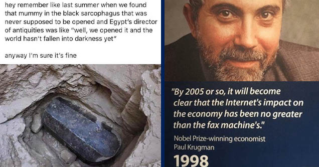egyptian black granite sarcophagus - hey remember last summer when we found that mummy in the black sarcophagus that was never supposed to be opened and Egypt's director of antiquities was  | paul krugman -
