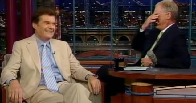Fred Willard tells joke about blind prostitutes on Letterman