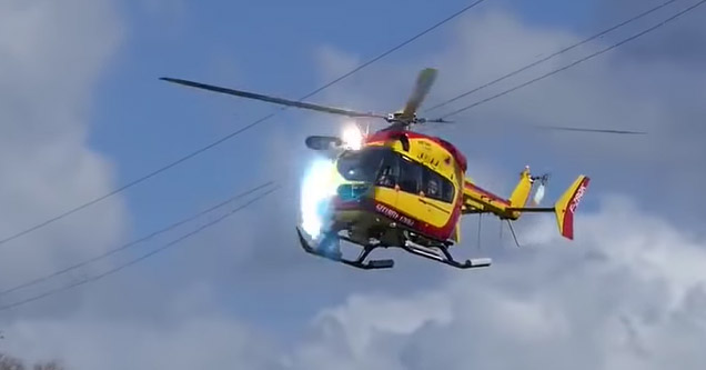 helicopter hitting power lines