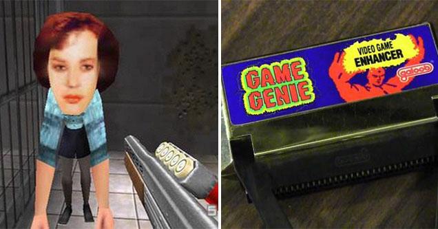 the history of cheat codes - big head goldeneye code - Game Genie