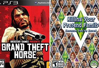 "A <a href=""https://gaming.ebaumsworld.com/pictures/funny-memes-and-pics-to-give-you-a-boost/86679374/""><strong>funny collection</strong></a> of popular video games reimagined with the utmost clarity. <br><br> If you're here looking for <a href=""https://gaming.ebaumsworld.com/pictures/funny-memes-and-pics-to-level-up-with-32-images/86673011/""><strong>memes</strong></a>, we got you. <br><br> But if you're looking for something a little more in-depth, might we suggest: <a href=""https://gaming.ebaumsworld.com/pictures/cancelled-canon-15-japanese-games-too-explicit-for-americans/86685704/""><strong>Cancelled Canon: 15 Japanese Games Too Explicit For US Release</strong></a>"