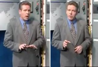 video screenshot of man in grey suit explaining technical computer jargon