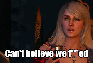 the best dialogue options in games -  can't believe we fucked - the Witcher 3