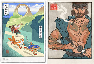 "Artist and self-proclaimed Japanophile, Jed Henry turns <a href=""https://gaming.ebaumsworld.com/pictures/15-awful-secrets-about-dr-robotnik/86616416/""><strong>video game characters</strong></a> into traditional Japanese woodblock prints. <br><br> These classically styled paintings are a <a href=""https://www.ebaumsworld.com/pictures/31-stained-glass-artworks-for-the-reverent-nerd/84338032/""><strong>cool recreation</strong></a> of some pretty iconic characters. <br><br> Before you go, check out: <a href=""https://gaming.ebaumsworld.com/pictures/cancelled-canon-15-japanese-games-too-explicit-for-americans/86685704/""><strong>Cancelled Canon: 15 Japanese Games Too Explicit For US Release </strong></a>"