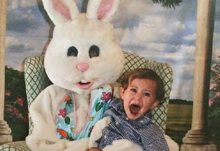 """Let's face it, there's nothing natural about a human-sized rabbit. <br></br>Let's hope these families are all financially well-off, because I'm betting it's probably gonna take a lot of <strong><a href=""""https://www.ebaumsworld.com/pictures/people-share-the-great-advice-that-therapists-have-given-them/85932637/"""" target=""""_blank"""">therapy</a></strong> before these kids ever feel right again."""