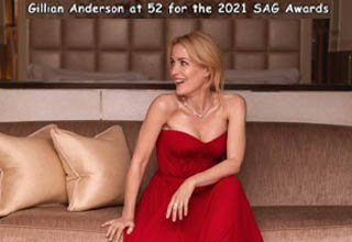 gown - Gillian Anderson at 52 for the 2021 Sag Awards.