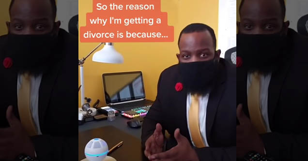 guy explains why he's getting a divorce