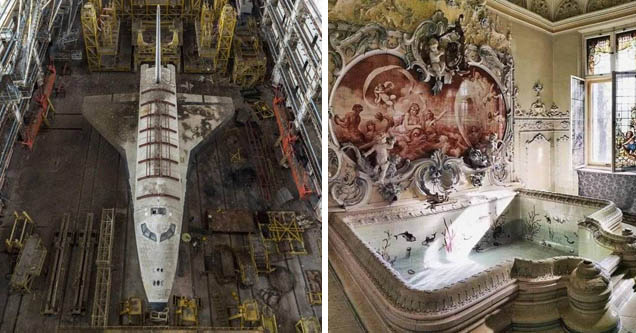 russian space shuttle abandoned | dietla palace bathtub