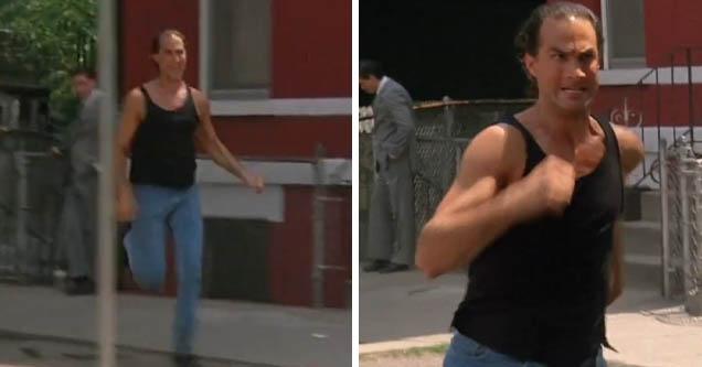 Film clips of Steven Seagal running