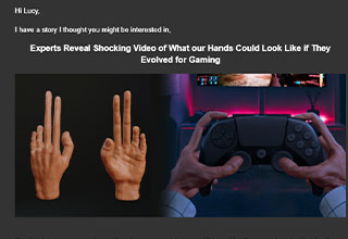 Science shows how gamer hands would evolve over time - new gamer hands just dropped