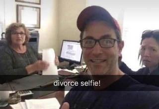 divorce selfie meme - divorce selfie!