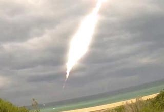 a meteor striking off the australian coast