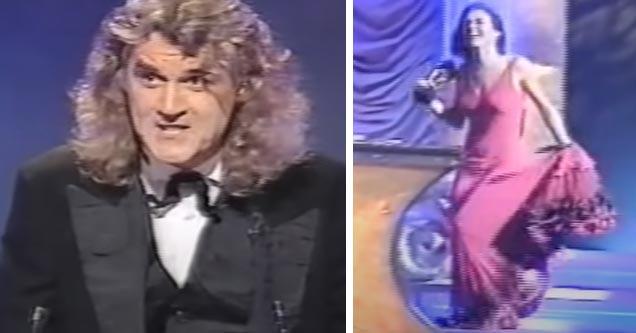 billy connolly and Elizabeth Hurley at BAFTA awards