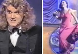 billy connolly and Elizabeth Hurley at BAFTA awards
