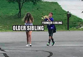 """You might be able to relate. <br></br><strong><a href=""""https://www.ebaumsworld.com/pictures/20-pics-that-know-what-its-like-to-have-siblings/86618791/"""" target=""""_blank"""">Having siblings</a></strong> is such a weird thing - you love them and can't live without them, but you also can't stand them. You'll beat them up for the smallest thing, but you'll also fight the entire town if they harm a hair on your siblings' head. It makes no sense, but perfect sense."""