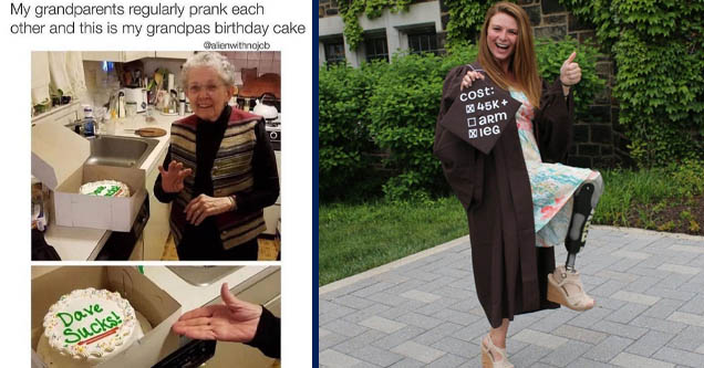food - My grandparents regularly prank each other and this is my grandpas birthday cake Dave Sucks! |funny graduation - Jo Cost 45K arm xIeG