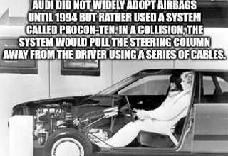 wheel - Audi Sleerhalten procon ten Auoi Audi Did Not Widely Adopt Airbags Until 1994 But Rather Used A System Called ProconTen. In A Collision, The System Would Pull The Steering Column Away From The Driver Using A Series Of Cables. imob.com