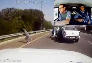 dashcam footage of attempted armored car robbery in South Africa