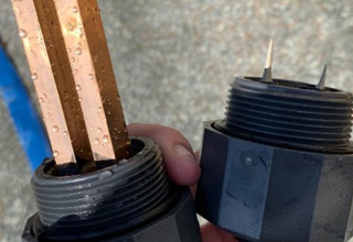 a pool diode before and after use