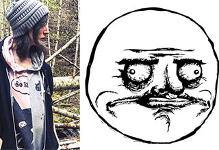 May Oswald and her Rage Comics creation, Me Gusta