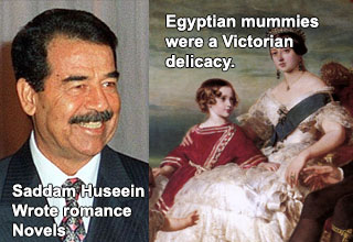 photo - saddam hussein painting - the morality of the victorians