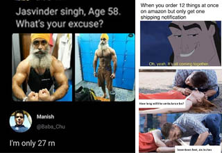 screenshot of bezos joke, jaswinder singh buff guy