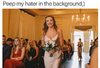gown - Dang, blasted Faith Faith Peep my hater in the background;