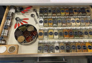 """These might give you eyegasms. <br></br>I actually set up my spice cabinet at home VERY similar to this and it's been one of the better investments I've made. It's just so visually pleasing and puts me in a better mood anytime I'm cooking. There's something magical about <strong><a href=""""https://www.ebaumsworld.com/pictures/22-satisfying-images-that-will-soothe-your-soul/84915536/"""" target=""""_blank"""">soothing and satisfying your eyes</a></strong> like that."""