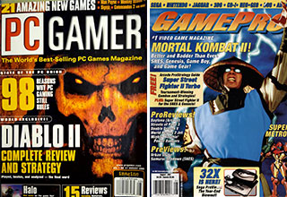 """If video killed the radio star, what killed the <a href=""""https://gaming.ebaumsworld.com/pictures/23-vintage-video-game-ads/83841263/""""><strong>game magazine industry</strong></a>? The internet, of course!<br><br>  Internet game sites have long since replaced <a href=""""https://gaming.ebaumsworld.com/pictures/vintage-video-games-ads-are-a-blast-from-the-past/86865794/""""><strong>magazines</strong></a> as a source of gaming news and reviews. But back in the day, these magazines were our only window into the larger world of gaming. And here are the coolest of the vintage <a href=""""https://gaming.ebaumsworld.com/pictures/30-great-vintage-computer-ads/83279155/""""><strong>gaming</strong></a> magazines."""