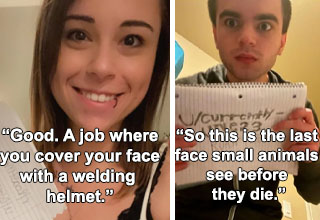 """These unfortunate souls were sent to the hospital with <strong><a href=""""https://www.ebaumsworld.com/pictures/30-people-who-asked-to-be-roasted-and-got-scorched/86340005/"""">third-degree burns</a></strong> -- but it's okay to laugh at them because they're <strong><a href=""""https://www.ebaumsworld.com/pictures/23-girls-who-asked-be-roasted-and-got-scorched/86074153/"""">self-inflicted</a></strong>. Indeed, below are almost thirty examples of why you shouldn't point the <strong><a href=""""https://www.ebaumsworld.com/videos/volcano-spewing-hot-lava-signals-to-crowd-they-may-want-to-move/86719883/"""">wisdm of the crowd</a></strong> at your own forehead like a loaded handgun. Sheesh."""