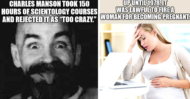 charles manson black and white - Charles Manson Took 150 Hours Of Scientology Courses And Rejected It As Too Crazy. | learning - Up Until 1978.It Was Lawful To Fire A Woman For Becoming Pregnant imgflip.com