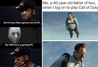 """Take a break from your game and have yourself a laugh with these <a href=""""https://gaming.ebaumsworld.com/pictures/funny-memes-and-pics-to-give-you-a-boost-25-images/86911401/""""><strong>memes</strong></a> from around the web. <br><br> If you're looking for <a href=""""https://gaming.ebaumsworld.com/pictures/funny-memes-and-pics-to-laugh-at-37-images/86911220/""""><strong>memes</strong></a>, you've come to the right place, so sit back, relax, and let your scrolling finger do the work. <br><br> And before you go, check out: <a href=""""https://gaming.ebaumsworld.com/articles/the-kids-are-not-alright/86911338/""""><strong>The Kids Are NOT Alright </strong></a>"""