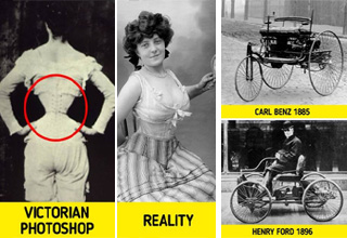 victorian corsets comparison, early cars